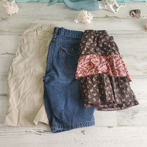 Girls Lot of Shorts & Skirt Size 10/12